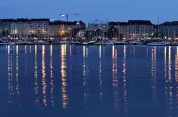 A marina in Helsinki, Finland.