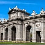The Puerta de Alcalá in Madrid, Spain.