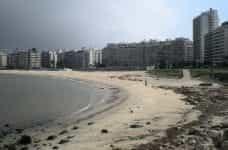 The coastline in Montevideo, Uruguay.