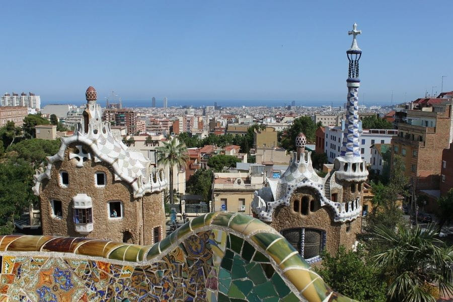 Parc Guell di Barcelona, Spanyol.