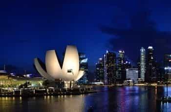 Singapore bay at Night.