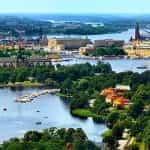 A landscape of Stockholm, Sweden.