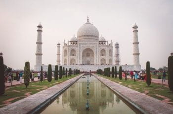 Taj Mahal in India.