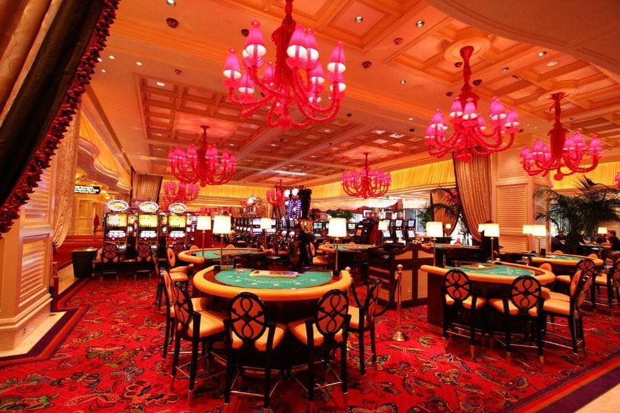 Inside the Wynn casino in Las Vegas, Nevada.