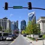 Sunny Demonbreun Street in Nashville, Tennessee.