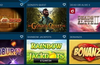 A selection of games at the Diamond7 online casino.