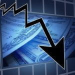 Downwards market trend.