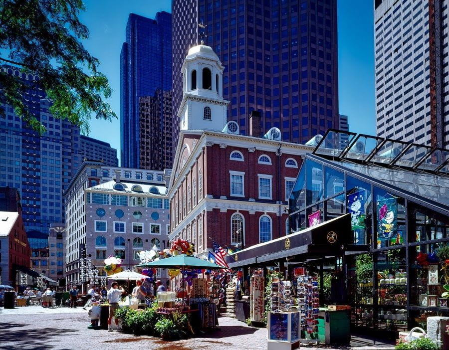 Faneuil Hall di Boston, Massachusetts.