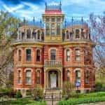 A historic mansion in Davenport, Iowa.