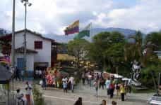 A public square in Medellín, Colombia.