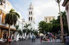 An outdoor plaza in Veracruz, Mexico.