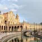 The Plaza de España in Seville, Spain.