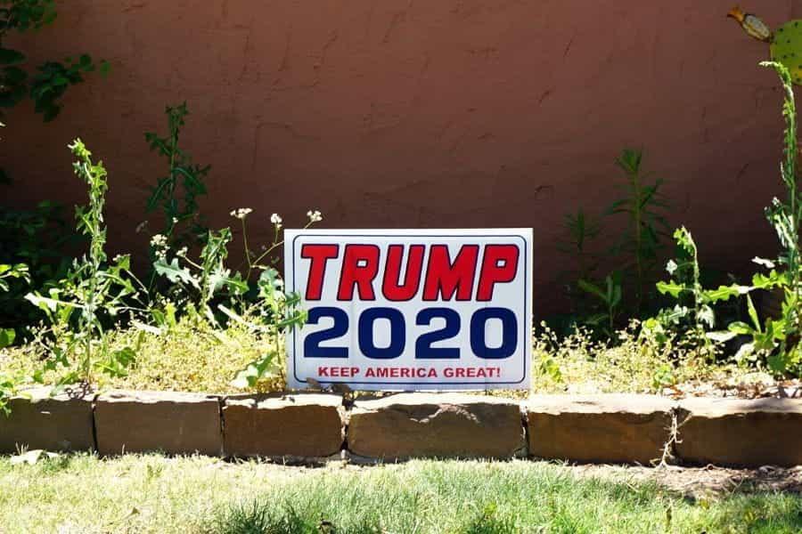 Tanda pemilihan Trump.