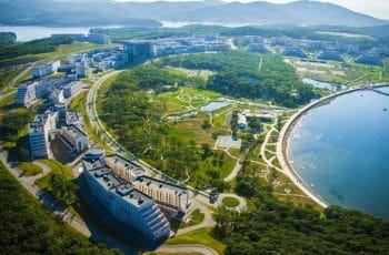 Vladivostok port university campus.