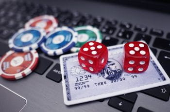 Credit card and casino chips.