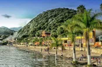 The waterfront at Chapala Lake, Mexico.