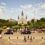 Jackson Square di New Orleans, Louisiana.