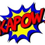 A comic book-style graphic reading, KAPOW!