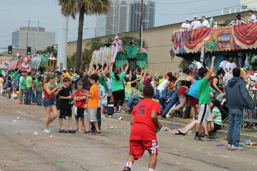 Parade bertema Irlandia di Louisiana, AS.