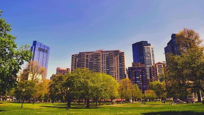 Taman umum di Boston, Massachusetts.