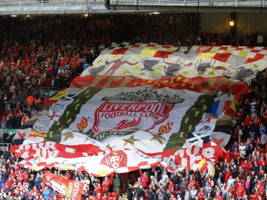 The Kop di stadion Anfield.