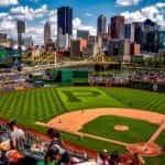 PNC Park baseball field in Pittsburgh, Pennsylvania.