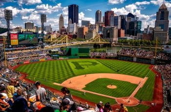 PNC Park baseball field in Pittsburgh, Pennsylvania.