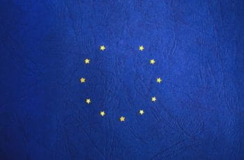 The EU flag with a star missing.