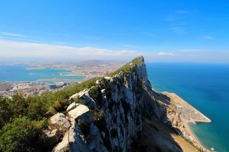 Batu karang terkenal di Gibraltar.