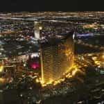 The Wynn Las Vegas and Wynn's Encore location on the Las Vegas Strip at night.