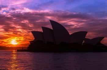 Australian cityscape at night.