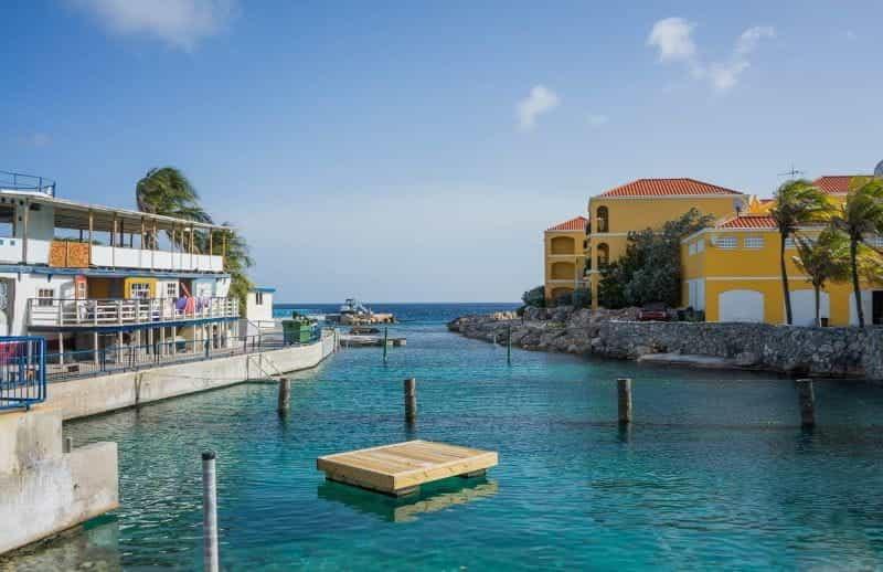 Lautan di Curaçao.