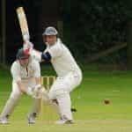 Cricket match batsman.