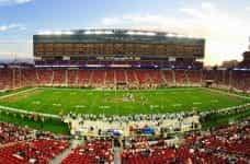An American football stadium in Santa Clara, California.