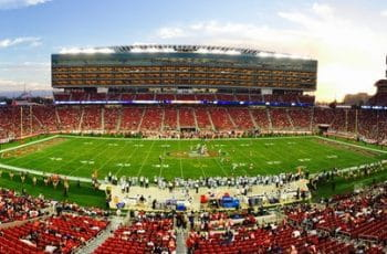 An American football stadium in Santa Clara, California.