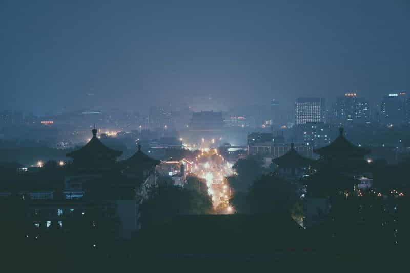 Kaki langit Jepang di malam hari.
