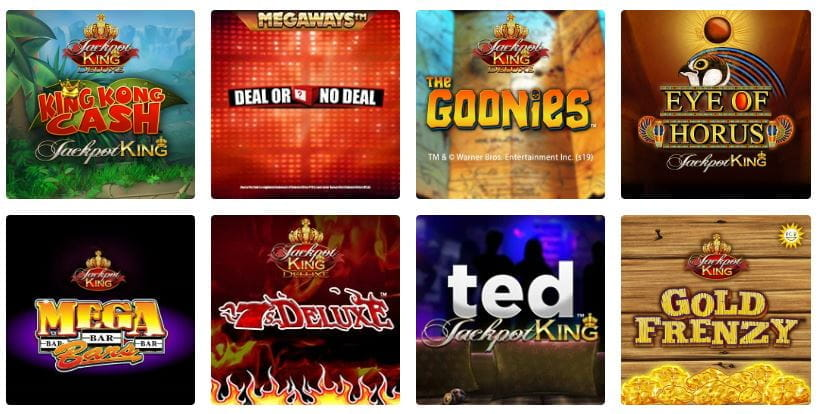 Selection of games at Ladbrokes online casino.