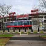 Stadion sepak bola Nissan di Nashville, Tennessee.