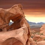 Sandstone rocks in the Valley of Fire, Las Vegas, Nevada.