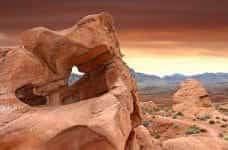 Sandstone rocks in the Valley of Fire, Las Vegas, Nevada.