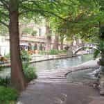 A pathway along a river in San Antonio, Texas.