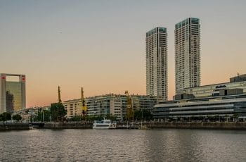 The waterfront in Puerto Madero, Buenos Aires, Argentina.