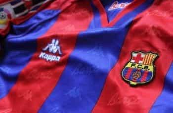 A Barcelona soccer team jersey.