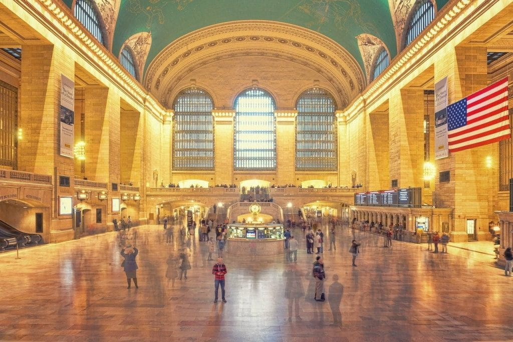 Inside Grand Central Station in New York City, New York, US.