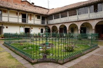A courtyard in Lima, Peru.