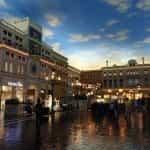 The Venetian's indoor shopping area.