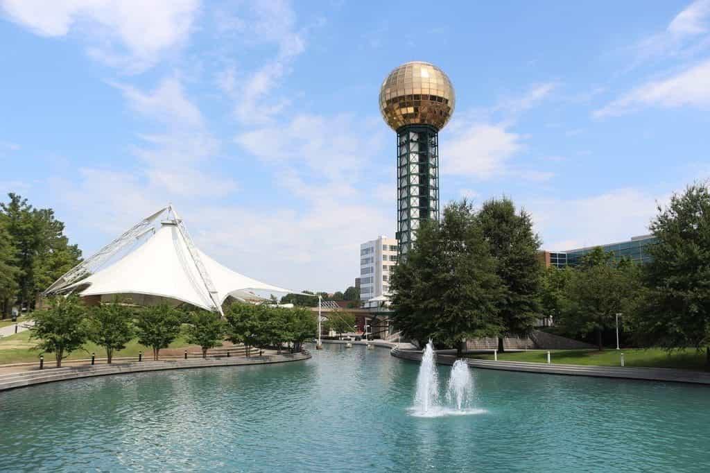 Landmark Pameran Dunia di Knoxville, Tennessee.