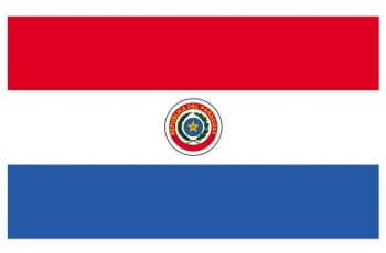 The flag of Paraguay.