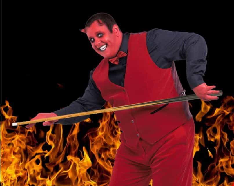 666 Casino's devilish mascot.