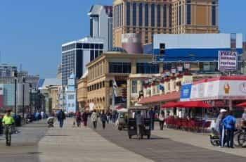 The boardwalk in Atlantic City, New Jersey.